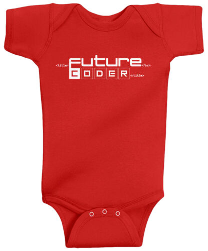 Threadrock Baby Future Coder Infant Bodysuit Funny Programmer Gift