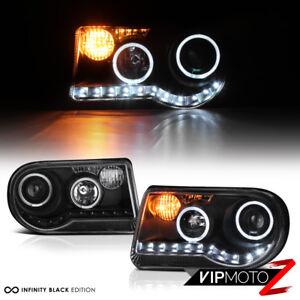 2005-2010-Chrysler-300C-300-C-LED-STRIP-DRL-Projector-Halo-Black-Headlights-Lamp