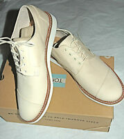 Toms Men's Classic Brogue Natural Cotton Twill Size 9