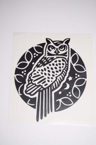 Wall Sticker Art custom Vinyl indoor decal window laptop removable night owl
