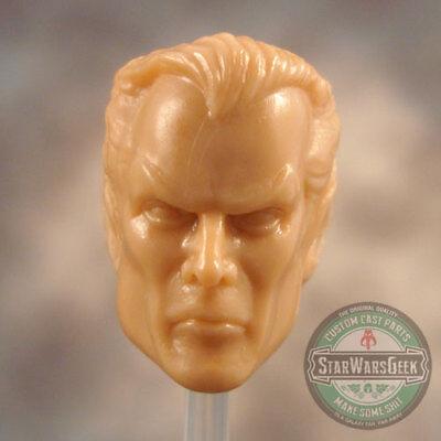 """ML140 Female Custom Sculpt Cast head use w//6/"""" Marvel Legends Star Wars Black"""