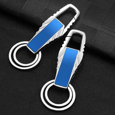 1pcs Mens Creative Metal Keyfob Car Keyring Keychain Key Chain Ring Gift Black