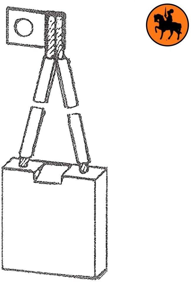 Ensemble de balais 4 balais de de charbon OM 08631/ 9818769 8x28x32mm c47e82