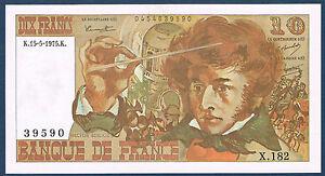 FRANCE-10-FRANCS-BERLIOZ-Fayette-n-63-10-du-15-5-1975-K-en-SPL-X-182-39590