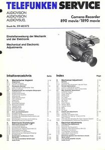 Motiviert Telefunken Original Service Manual Für 890 Tv, Video & Audio 1890 Movie Einstellanweisungen