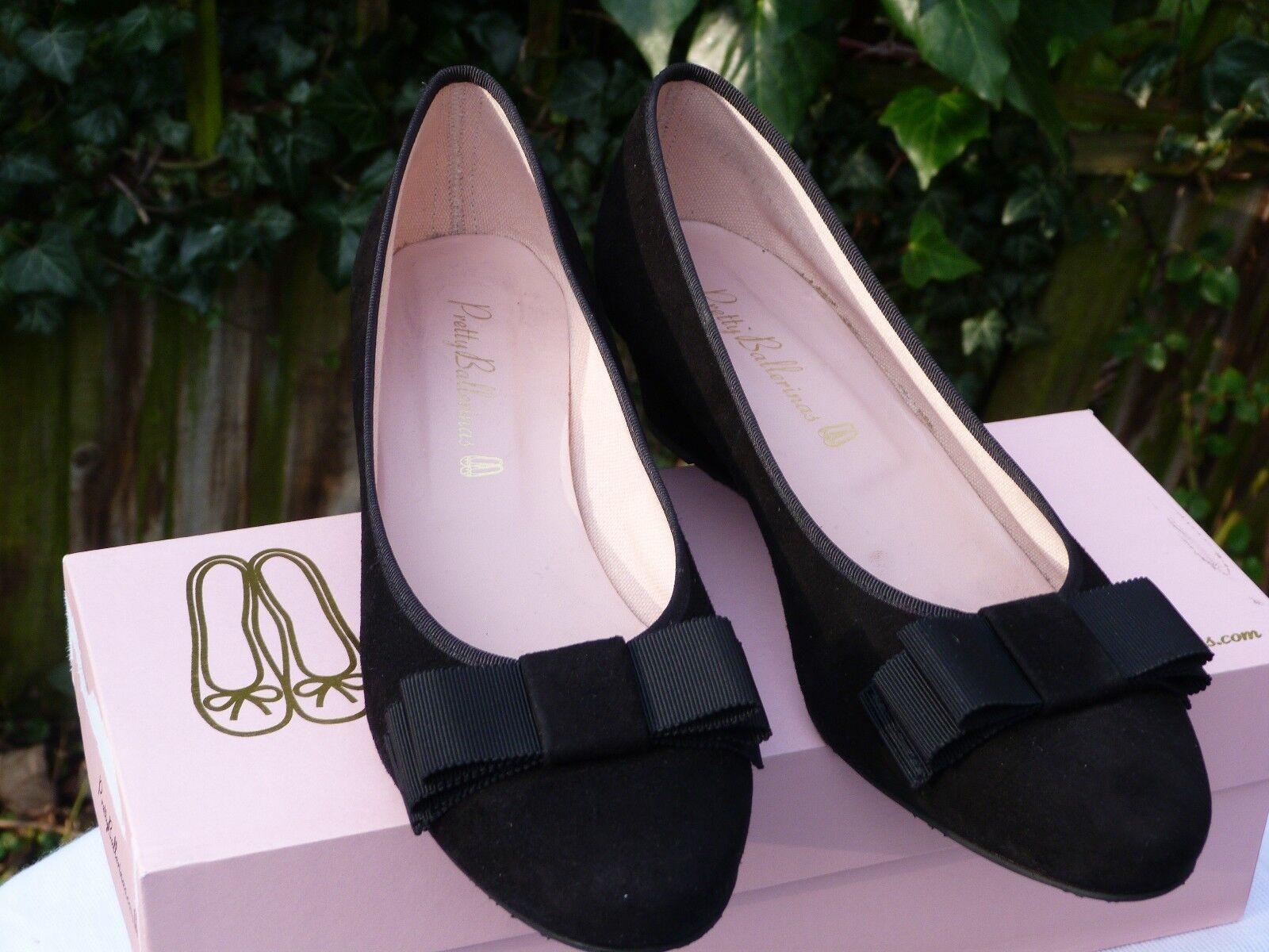 Pretty Ballerinas Größe 7/40/6.5/39.5/suede/schwarz/wedge/heel/женская обувь/damesk обувь/damesk обувь/damesk 801d83
