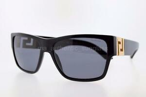 f86a65680484 VERSACE SUNGLASSES VE 4296 GB181 59MM GB1 81 BLACK FRAME GREY ...