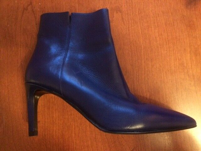 LK Bennett  pink  Ankle Boot In Ultra bluee Calf Leather Size UK 5 EU 38
