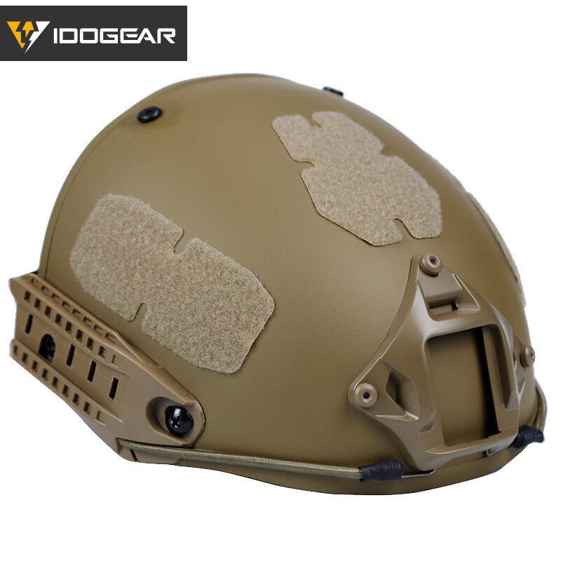 IDOGEAR Tactical Fast Helmet CP Style AF Helmet w  Shroud Hunting Paintball Camo