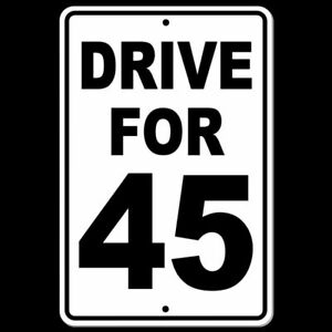 Sign And Drive 45 >> Details About Drive For 45 Sign Metal Mph Slow Warning Traffic Road Highway Speed Sw014