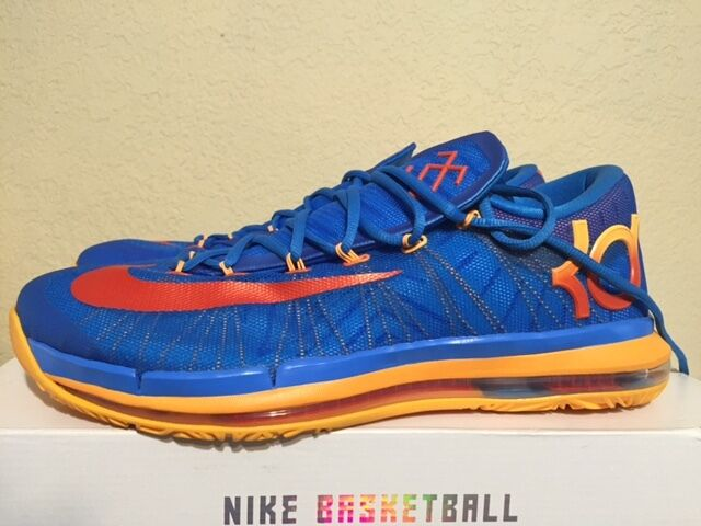 NEW Men's Nike KD VI Elite Photo Blue Orange 642838-400 Atomic Mango OKC Thunder
