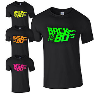 bb7f252fbd002 Details about Back To The 80's T-Shirt - Fancy Dress Neon Print Love 80s  Party Dance Club Top
