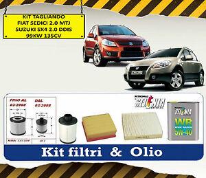 /> KIT TAGLIANDO 4 FILTRI FIAT SEDICI 2.0 JTD 99KW 135CV DAL 2010