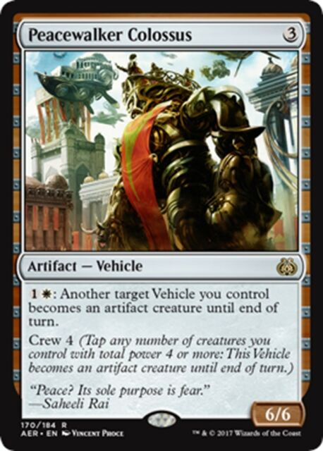 MTG Magic - (R) Aether Revolt - Peacewalker Colossus FOIL - NM