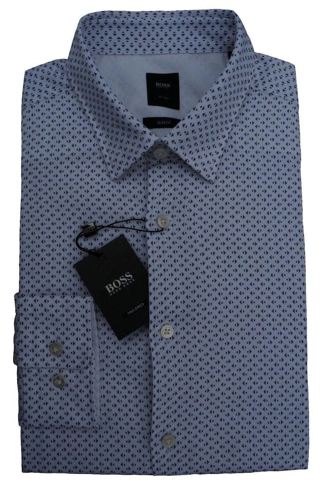 NEU gr. M HUGO BOSS JT-RAMIRO TAILOROT HEMD SLIM FIT OPEN-Blau zu Jeans 50329747