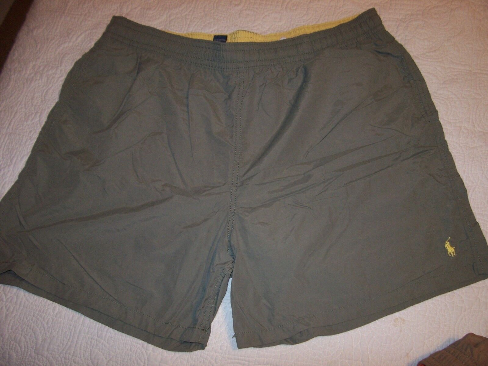NEW Polo Ralph Lauren swim trunks shorts swimsuit olive green size 2X Big  2XB