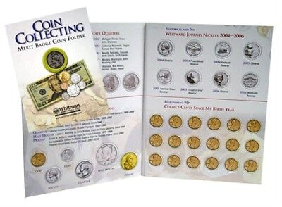 H E HARRIS 2707 Coin Folder Boy Scout Coin Collecting Merit Badge  Album Book