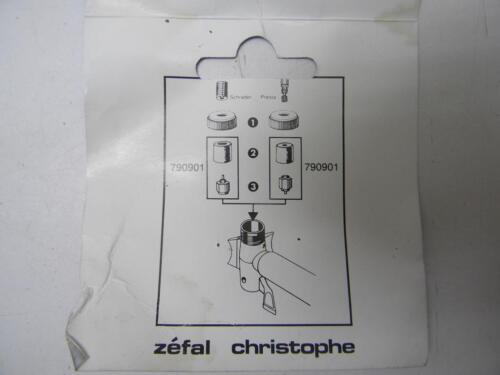 Vintage ZEFAL Christophe Pump Schrader /& Presta Valve Yellow NEW 435