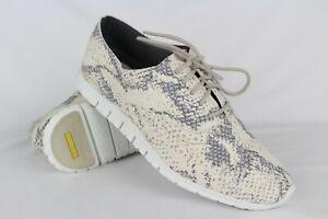 New-Cole-Haan-Women-039-s-Zerogrand-Wingtip-Oxford-7-Ivory-Grey-Roccia-Optic-White