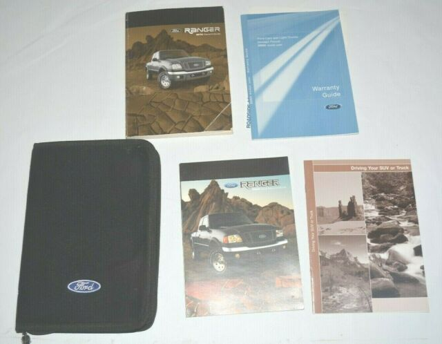 2019 Ford Ranger Owners Manual With Case Oem Free Shipping Manual Guide