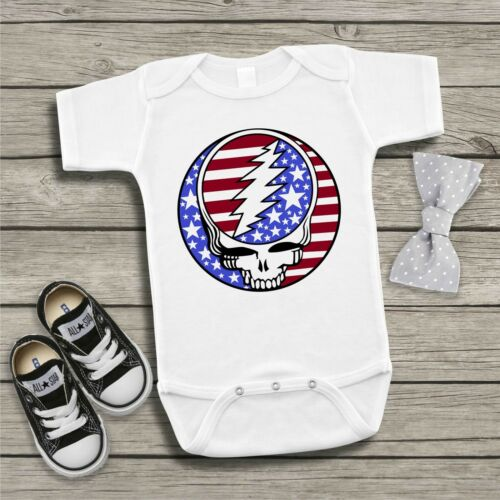 Grateful Dead Baby Bodysuit Dead Head Baby Shower Gift Steal Your Face Uncle Sam