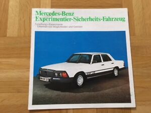 Broschuere-Mercedes-Experimentier-Sicherheits-Fahrzeug-1973-Prospekt-Brochure