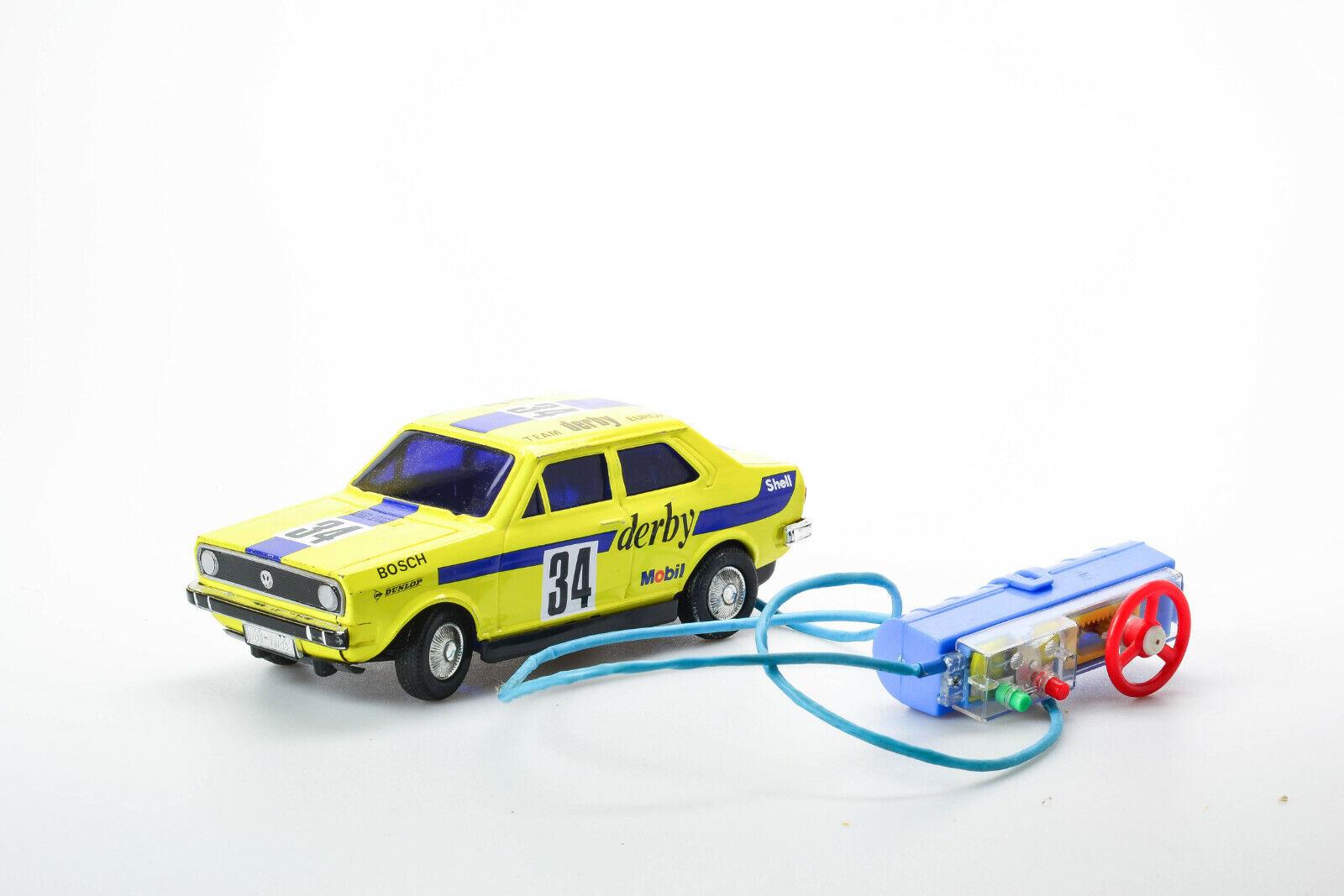 Antigüedad de estaño de juguete japonés Atc Asahi Volkswagen Vw Polo Derby coche de Rally Japón