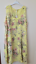 New Plus Size LAGENLOOK Quirky BALLOON Shaped FLORAL LONG LINEN Dress XXL 52/""
