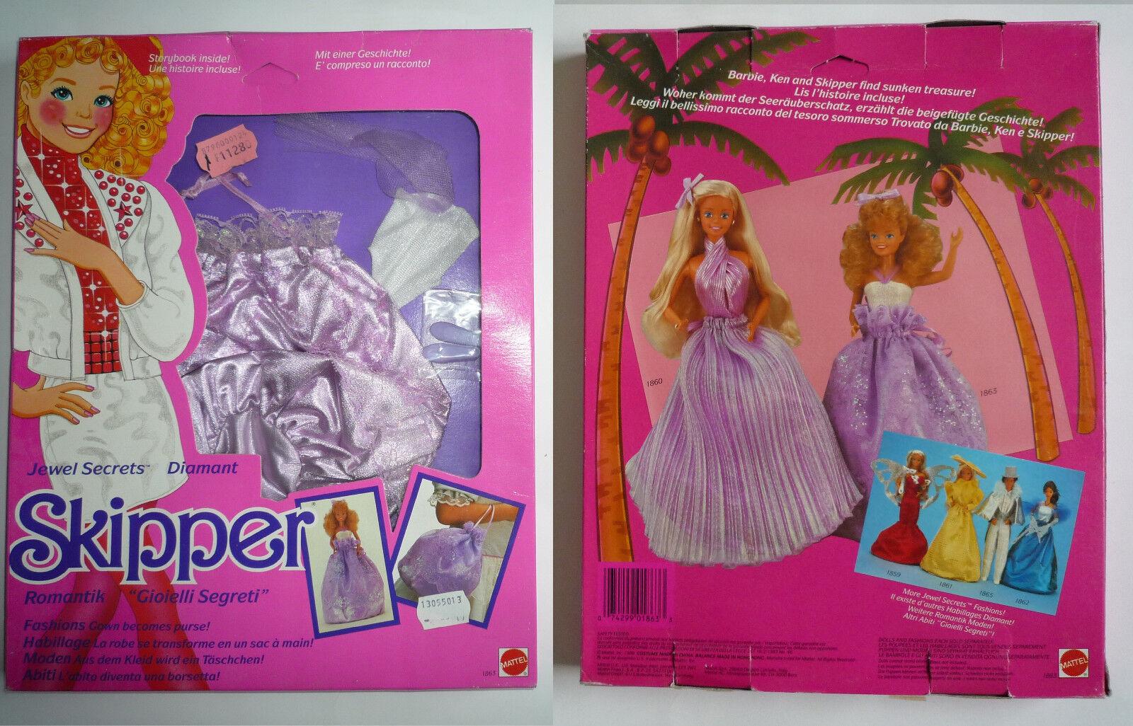 Tenue 1863 vintage Barbie SKIPPER JEWEL SECRET Mattel 1986 NEW in box NEUF