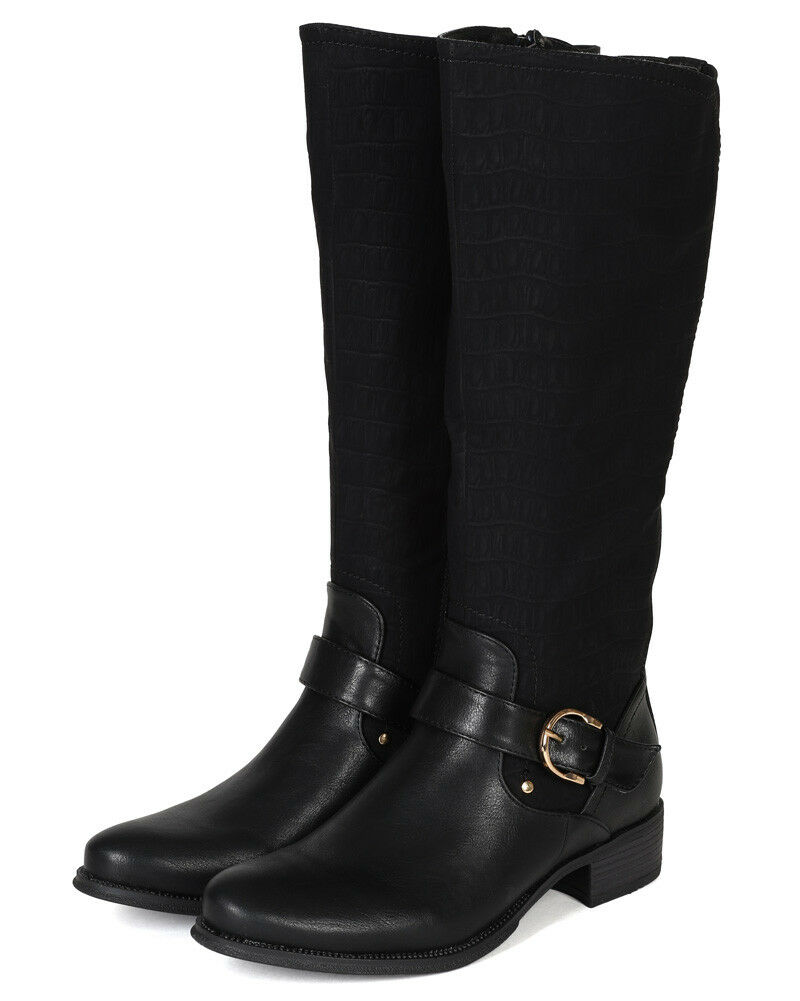 Wild pink Chelsea01 New Women Leatherette Snake Almond Toe Riding Calf High Boot