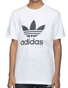 ADIDAS-ORIGINALS-BLANCO-para-Trebol-T-Camiseta-deporte-TOP-Varias-Tallas