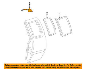 GM OEM Side Glass-Hinge Screw 14062360