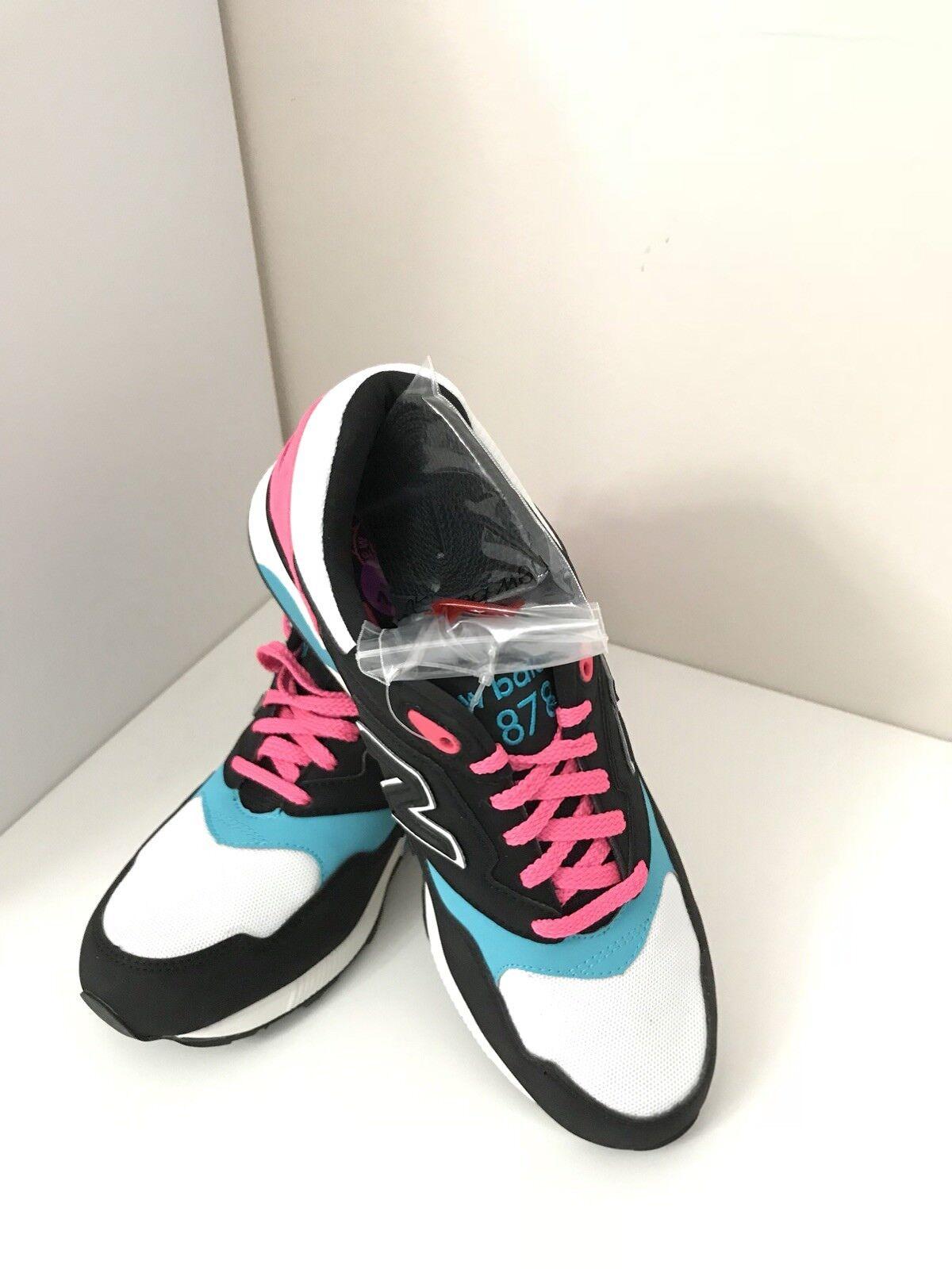 New Balance 878 ML878RSD RUNNING Men's SZ 8.5 Black Pink Teal