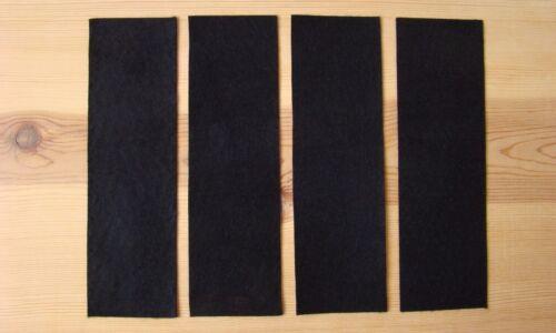 "ARCHERY FELT MOLESKIN BLACK FOUR 2 1//2/"" X 9 INCH inch STRIPS ADHESIVE BACKED"