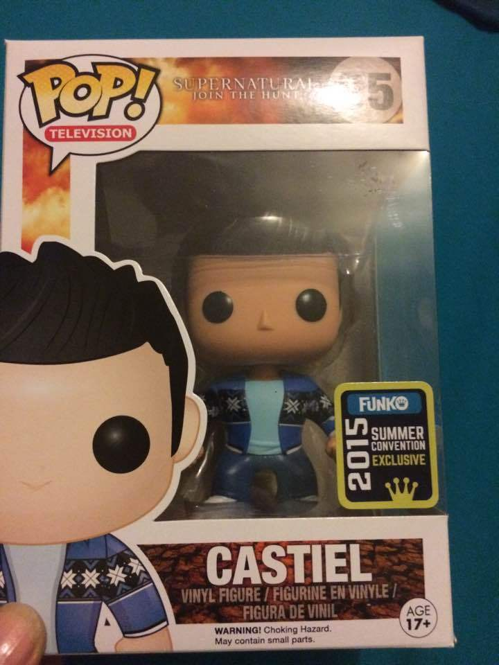 Funko pop vinyl figure  95 Castiel SDCC 2015 French Mistake Supernatural tv