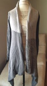 de6ba53e66 Details about Calvin Klein Jeans Two Tone Gray Duster Long Open Cardigan  Women s Size Petite