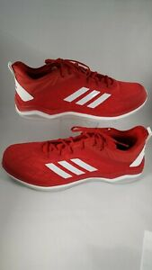 ADIDAS-Speed-Trainer-4-Baseball-Turf-Shoes-Red-White-Men-039-s-CG5136-Size-17
