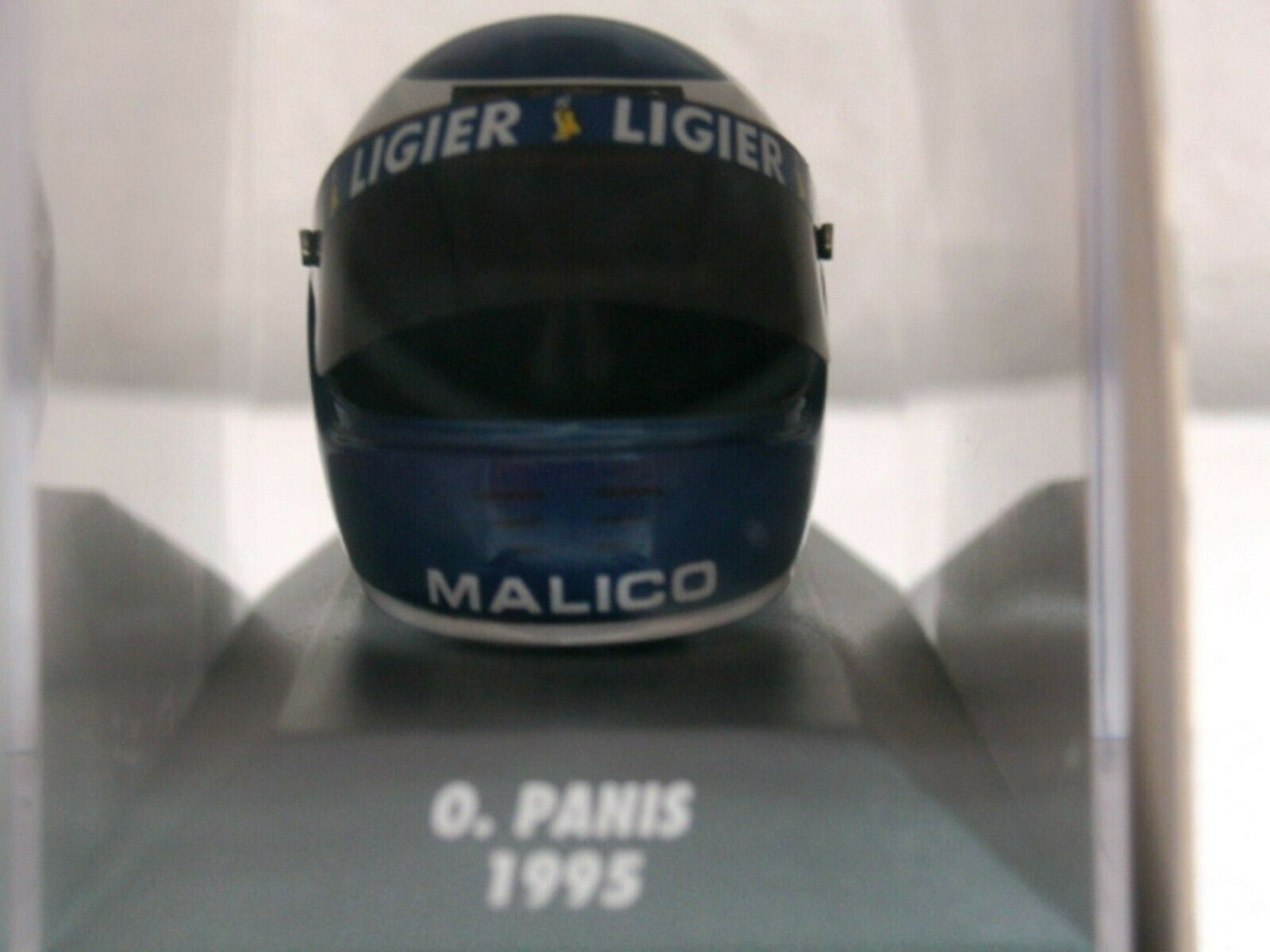 WOW EXTREMELY RARE Helmet Panis 1995 Arai Ligier Honda GP France 1 8 Minichamps