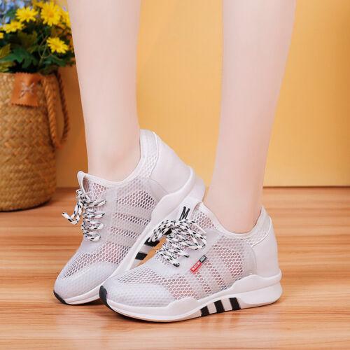Mesh Halbschuhe Damen Mode Loafers Sommer Schuhe Schnürschuhe 2 Farbes Sports