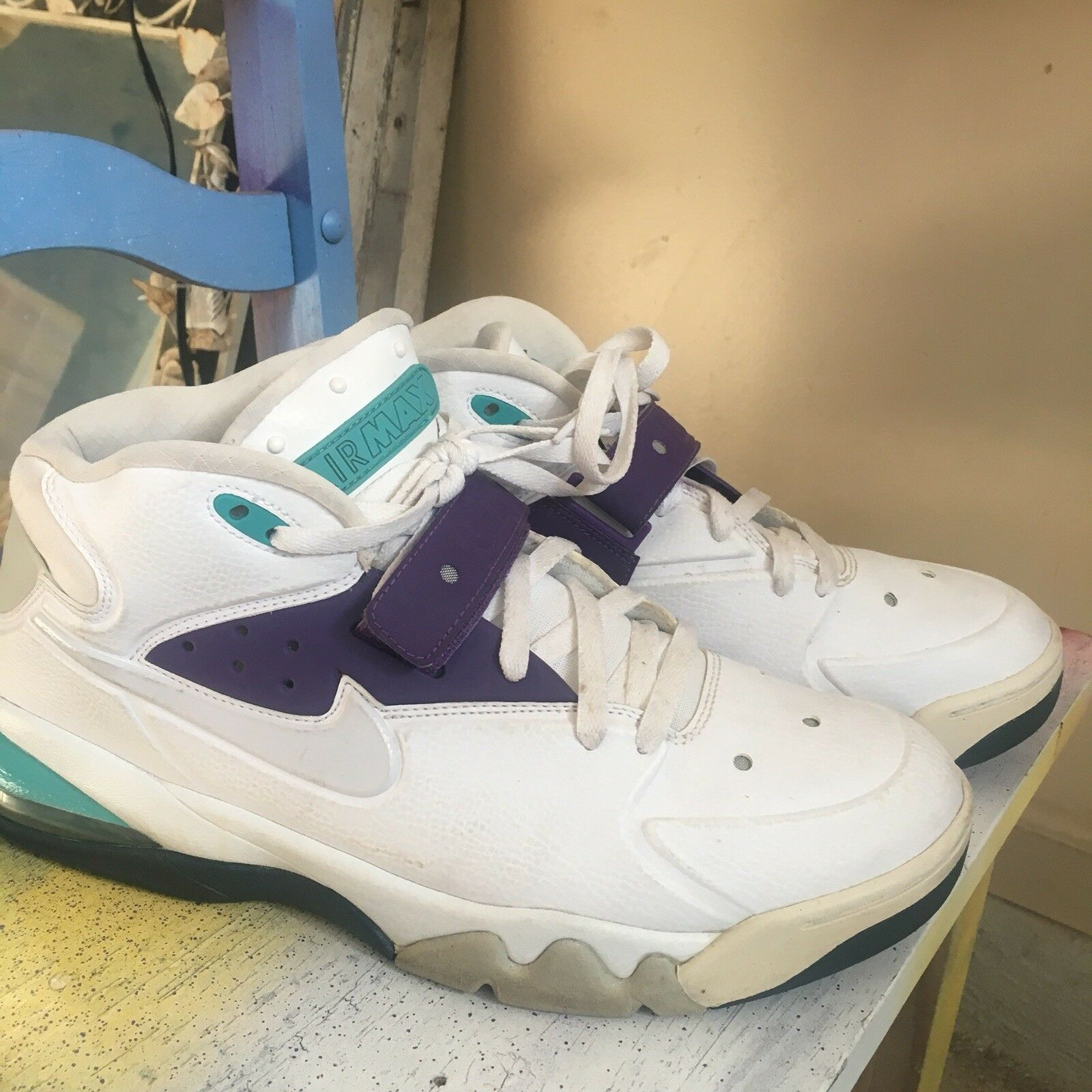 Nike Air Force Max White and GrapeSz. 13Style    555105-101