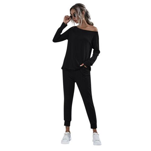 ❤️ Women 2Pcs Tracksuit Sweatshirt Tops Pants Set Ladies Casual Lounge Wear Suit