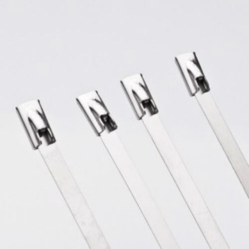 10pcs Stainless Steel Marine Grade Metal Cable Zip Ties Exhaust 200mm x 4.6mm