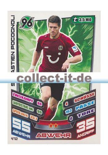 Match Attax EXTRA 13//14-472-Sebastien Pocognoli-Hanovre 96