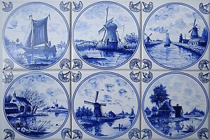 15x15 fliesen nach art delfter fliesen delft delfts blau wei kacheln tile ebay. Black Bedroom Furniture Sets. Home Design Ideas