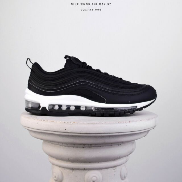 Nike WMNS Air Max 97 Women Lifestyle Shoes Sneakers New Black White 921733 006