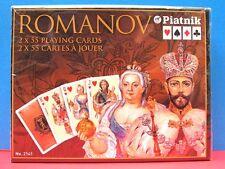 "Russian Style ""Romanov"" 2x55 Playing Cards 2 decks set. MFD Piatnik Austria"