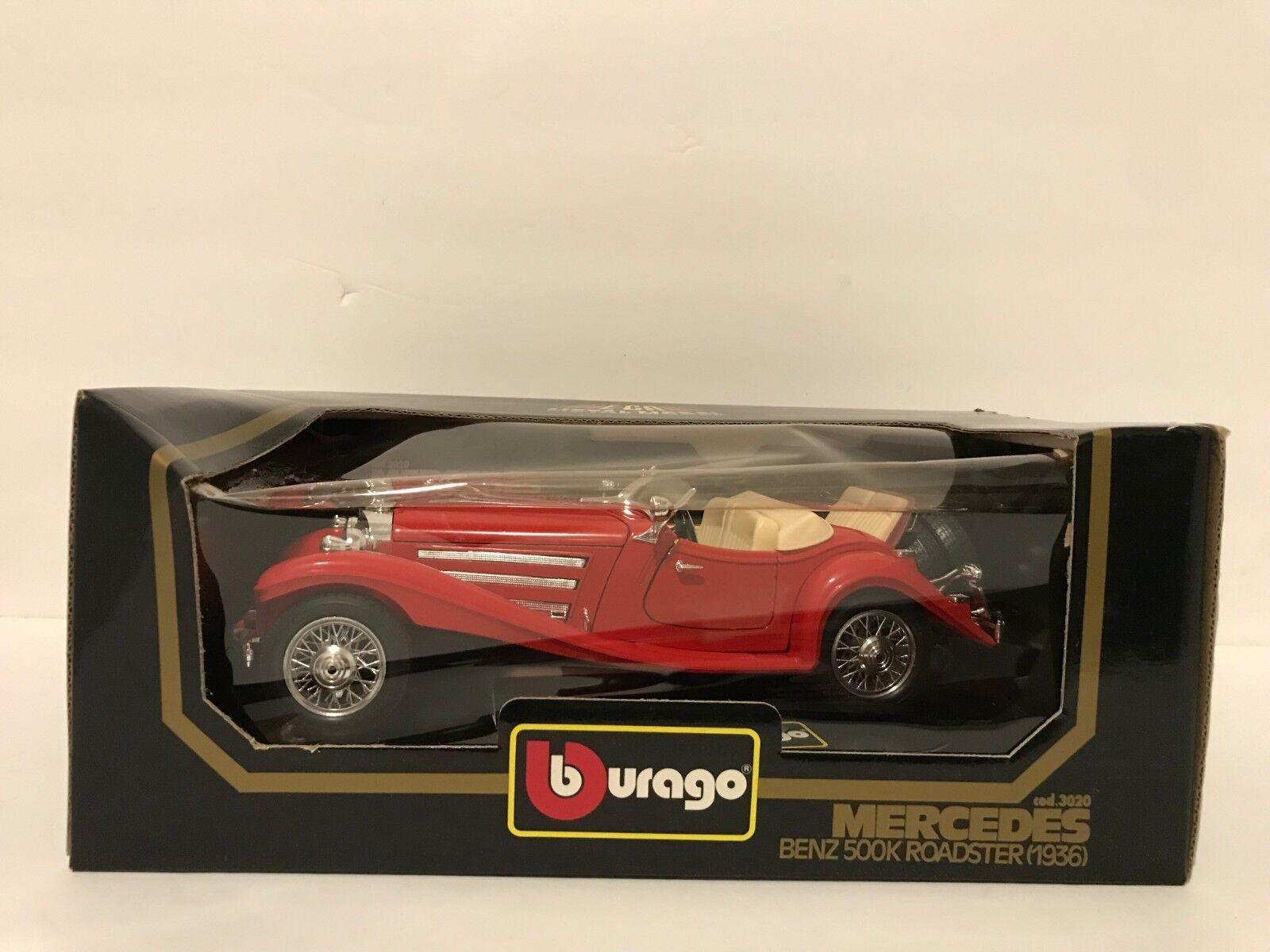 tienda de venta Burago 1 1 1 18 - 3020 Mercedes Benz 500K Roadster 1936  para proporcionarle una compra en línea agradable
