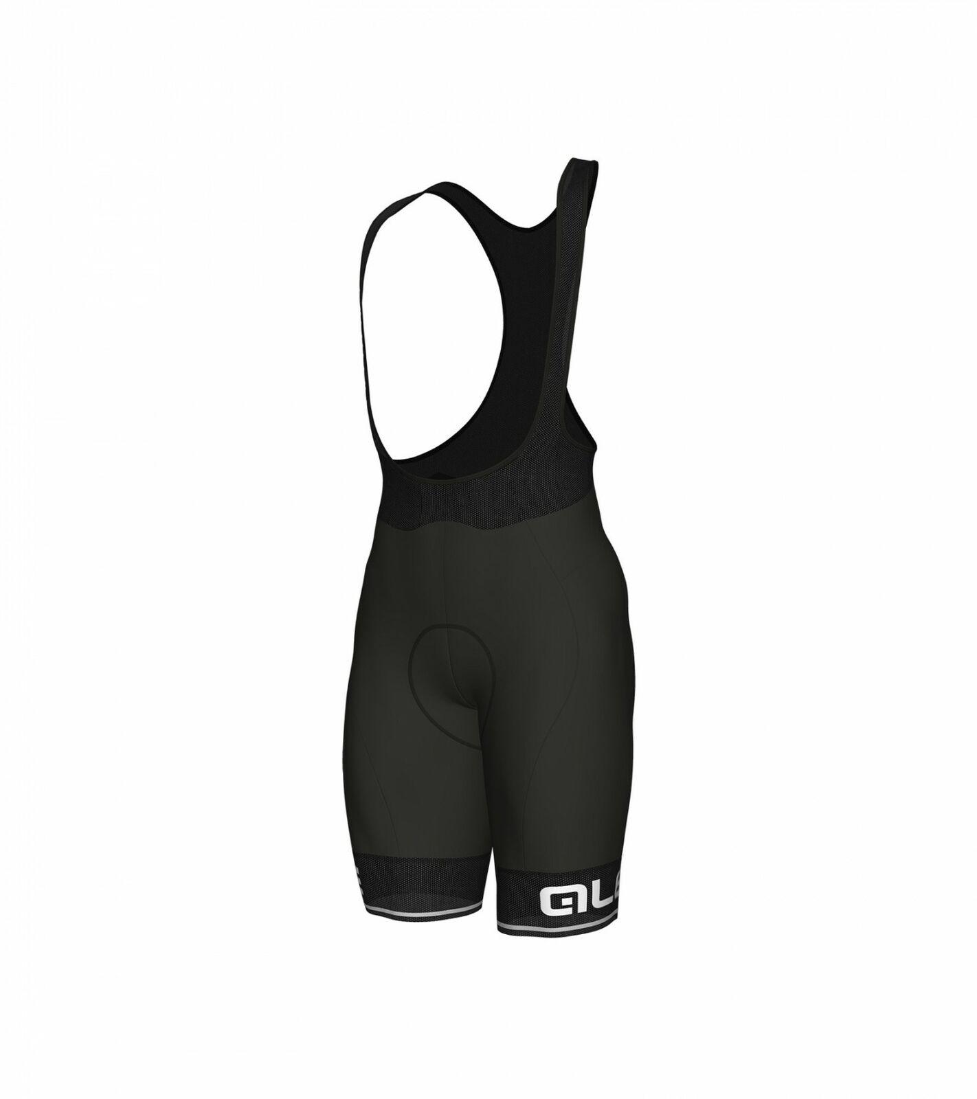 Pantaloncini ciclismo ALE' SOLID CORSA schwarz-bianco 2019