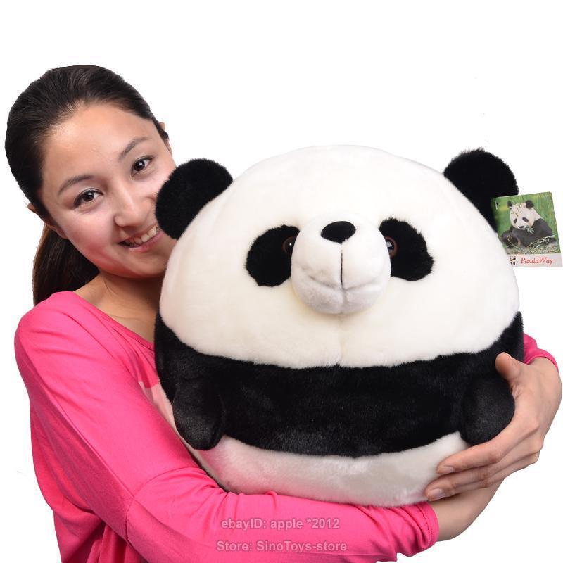 Rounded Panda Plush Stuffed Animal Doll Plush Soft Toys Valentine Xmas Kids Gift