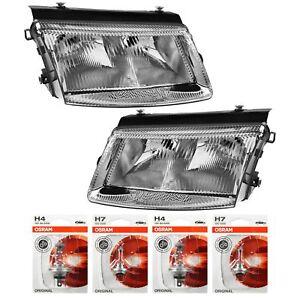 Headlight-Set-VW-Passat-B5-Type-3B-Built-96-00-H7-H4-Incl-Osram-Lamps